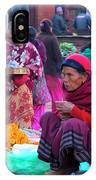 Bhaktapur Holi Market IPhone Case