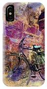 Bicycle Abandoned In India Rajasthan Blue City 1a IPhone Case