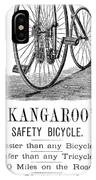 Bicycle Ad, 1885 IPhone Case