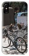 Bicycle Parking And Smoking Station In Tokyo Japan IPhone Case