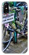 Bicycling For Peace IPhone Case