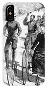 Bicyclist Meeting, 1884 IPhone Case