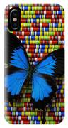 Big Blue Butterfly IPhone Case