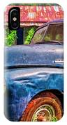 Big Blue Chevy At The Farm IPhone Case