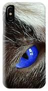 Big Blue Eyes Cat IPhone Case