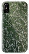 Big Cactus Pins. Close-up IPhone Case