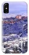 Big Snow In The Alhambra Granada  IPhone Case