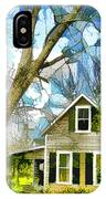 Big Tree Standing Tall In The Front Yard IPhone Case