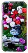 Big Vase With Peonies IPhone Case