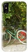Bike In Maupiti IPhone Case
