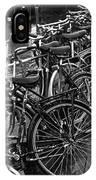 Bike Parking -- Amsterdam In November Bw IPhone Case