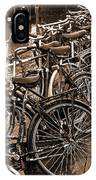 Bike Parking -- Amsterdam In November Sepia IPhone Case