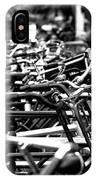 Bike Row Mono IPhone Case