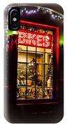 Bike Shop Window IPhone Case