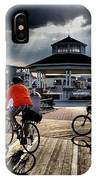 Bike The Boardwalk At Rehoboth Beach  Delaware, 2015 IPhone Case