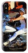 Biker Lady IPhone Case