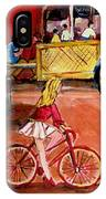 Biking To The Orange Julep IPhone Case