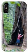 Bill Looking Up At The Sequioas Trees IPhone Case