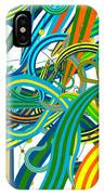 Bipolar Mania Rollercoaster Abstract IPhone Case