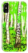Birch Forest, Painting IPhone Case