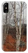 Birch On A Rocky Hill  IPhone Case