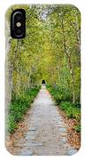 Birch Pathway Perspective IPhone Case