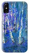 Birch Trees 3 IPhone Case