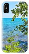 Birch Trees Above Lake Superior Off North Country Trail In Pictured Rocks National Lakeshore-mi IPhone Case