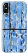 Birch Trees - Blue IPhone Case