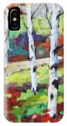 Birches 07 IPhone Case