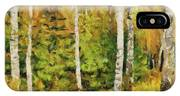 Birches And Spruces IPhone Case