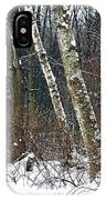 Birches During A Snowfall IPhone Case