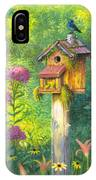 Bird House And Bluebird  IPhone Case