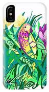 Bird In A Bush IPhone Case