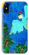 Bird People Green Woodpecker IPhone Case
