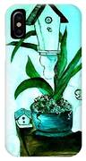 Birdhouse Orchid Garden IPhone Case