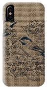 Birds And Burlap 1 IPhone Case