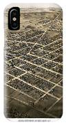 Birds Eye View Of The City Of Coldwater, Michigan - 1868 IPhone Case