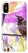 Birds Stare Nature Songbird  IPhone Case
