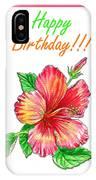 Birthday Hibiscus IPhone Case