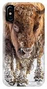 Bison Approaching  8163 IPhone Case