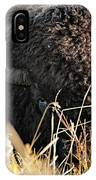 Bison In Hiding IPhone Case