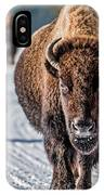 Bison In The Road - Yellowstone IPhone Case