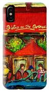 Bistro On Greene Avenue In Montreal IPhone Case