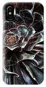 Black Aeonium IPhone Case