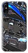 Black And Blue Harley IPhone Case