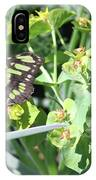 Black And Green Butterfly IPhone Case