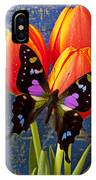 Black And Pink Butterfly IPhone Case