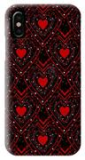 Black And Red Hearts IPhone Case