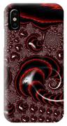 Black And Red Tornados IPhone Case